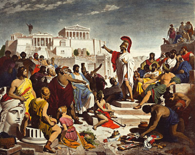 The Funeral Oration of Pericles, by Phillip von Foltz.