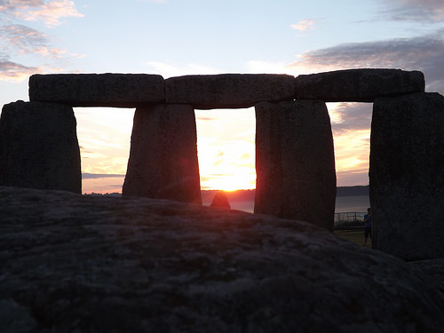 stonehenge sunrise photo