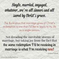 """Alive and Fully Engaged: Facing the Trials of Marriage from the Limbo of """"Engagement"""""""