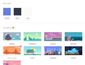 TickTick theme options