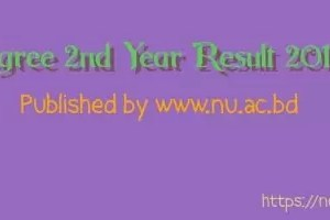 Degree 2nd Year Result 2018//www.nu.ac.bd/results
