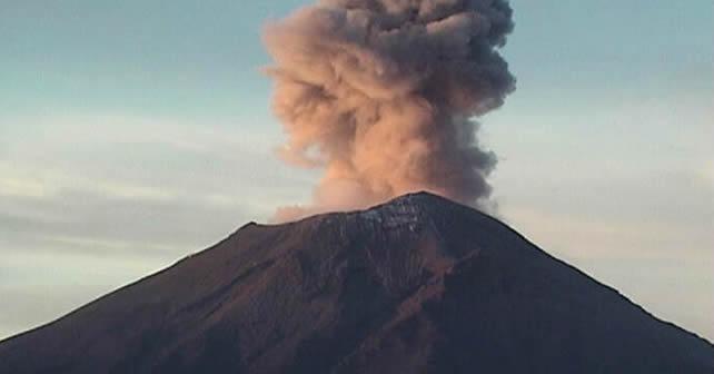 Imagen del volcán - Estación Altzomoni Foto CENAPRED