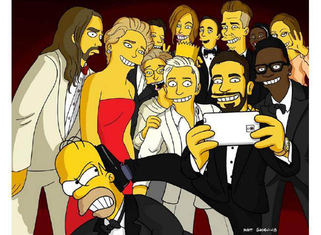 selfiesimpsons