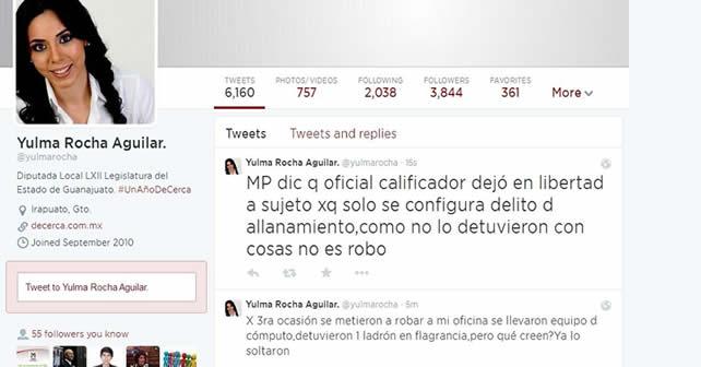 Twitter | Yulma Rocha Aguilar