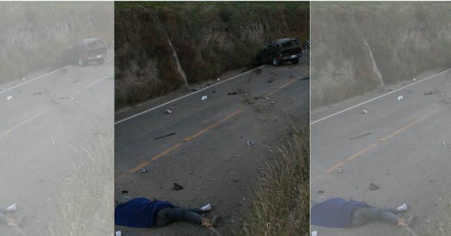 """Jesús Ramírez Ruiz alias """"El Mamut"""", de 35 años, perdió la vida, luego de que se volcó el vehículo en el que viajaba"""