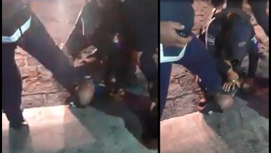 Photo of Tránsito pisa cabeza a hombre que se resistía a detención