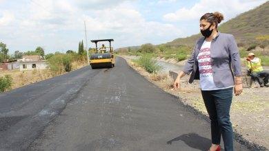 Photo of Supervisa Larisa Solórzano obras en la carretera Pueblo Nuevo-La Purísima