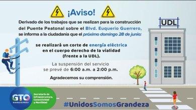 Photo of Suspenderán energía eléctrica en Bulevar Euquerio Guerrero por maniobras en la construcción de puente peatonal