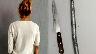 Photo of Por no dar «pa´l chivo», y gastárselo en la borrachera mujer lo persigue con cuchillo