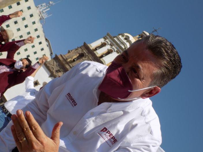 Pepe Aguirre candidato por MORENA a la presidencia de Irapuato. Foto por Francisco Somoza