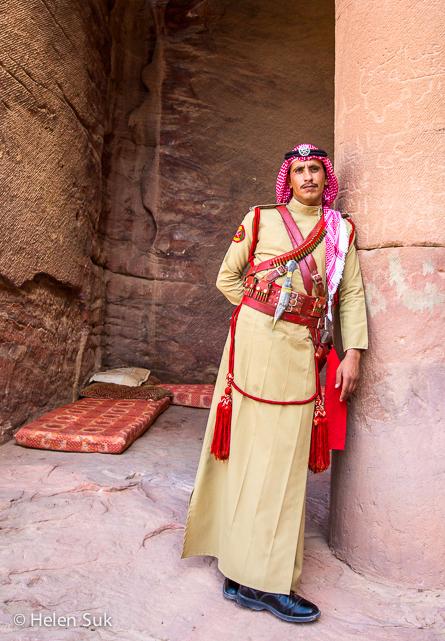 guard petra, jordan, bedouin