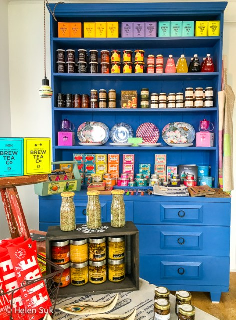 artisanal food products line the shelves in l'epicerie maison depoivre in bloomfield