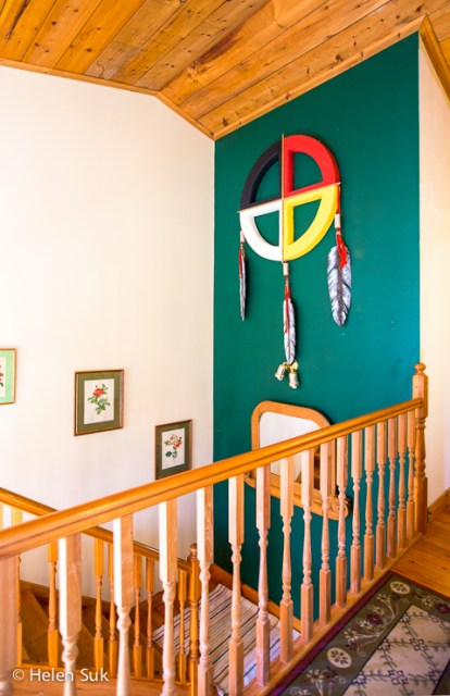 large dream catcher at jacksons fall inn in prince edward county