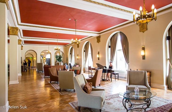 spacious lobby at digby pines golf resort and spa