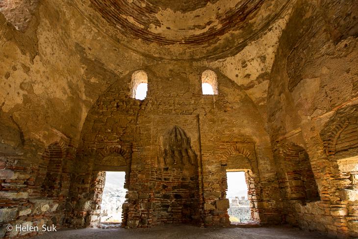 inside the basilica of st john in selcuk turkey