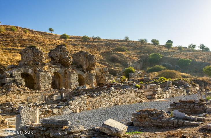 ruins of the baths of varius in ephesus turkey