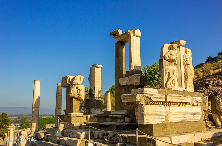 memmius monument on curetes street in ephesus