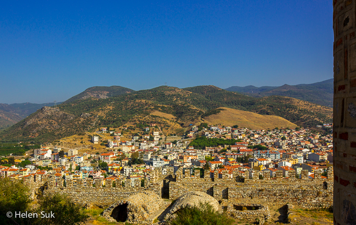 view of selcuk from ayasuluk castle