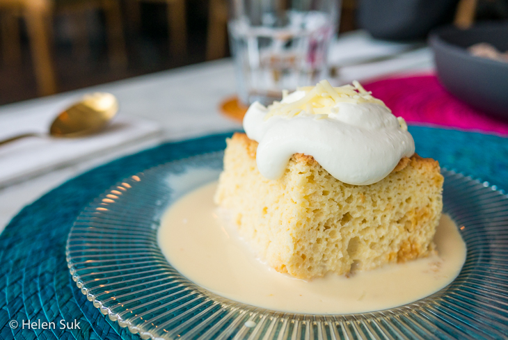 tres leches cake from la condesa mexican restaurant in wellington