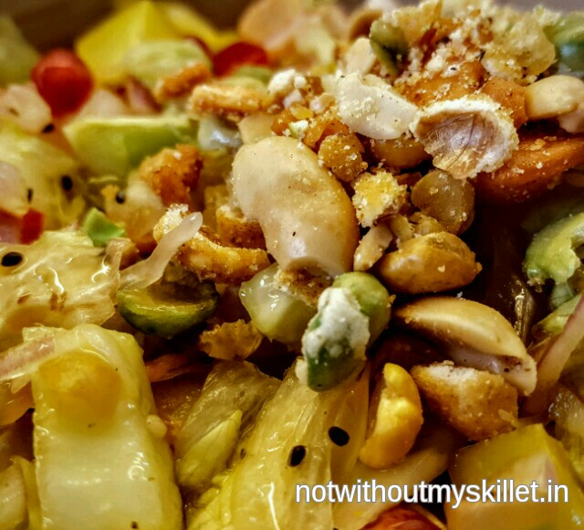 A perfect combination of crunch from the nuts and greens makes this salad a hit with all age groups