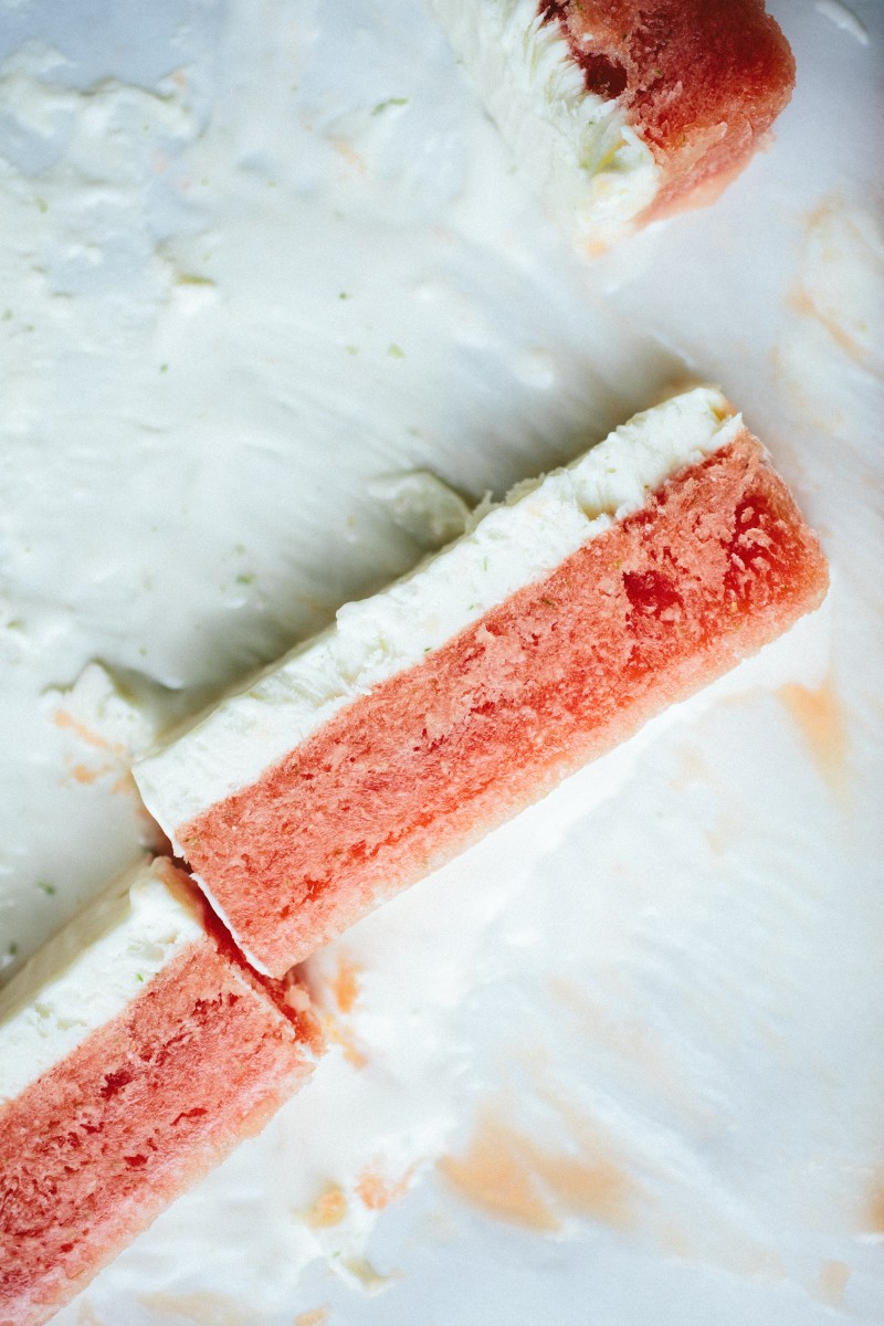 Watermelon Lime Bars