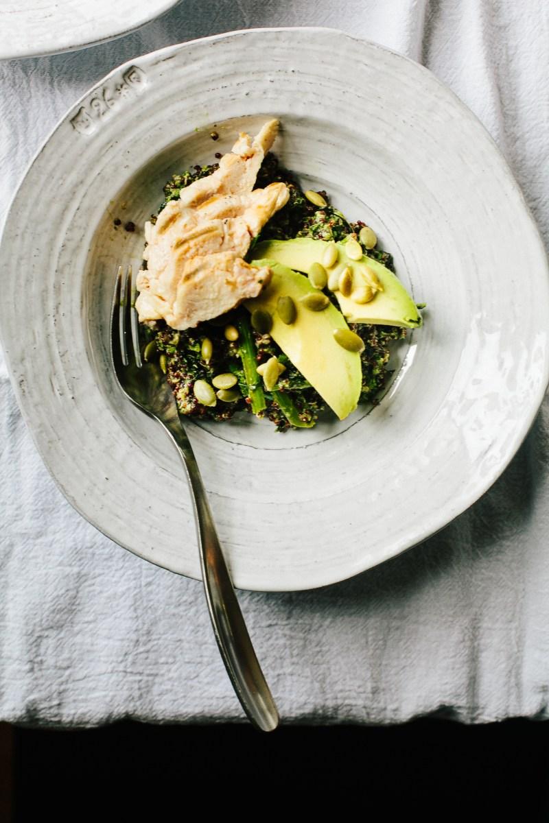 Roasted Broccoli Rabe Bowl // Not Without Salt