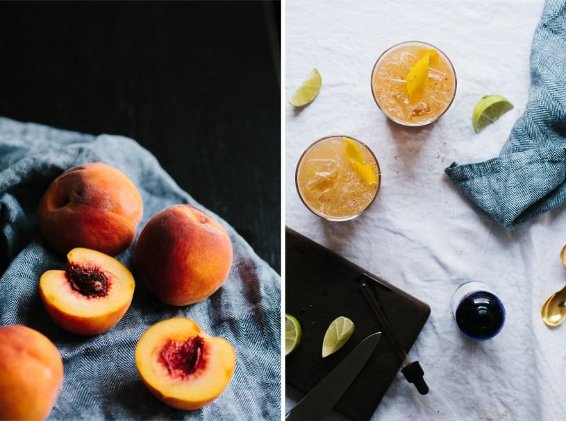 Ginger Peach Rum Punch // Notwithoutsalt.com