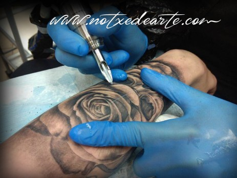 Tatuaje en proceso