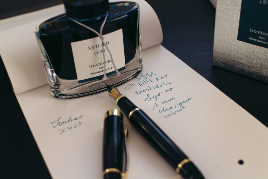Best teal fountain pen ink