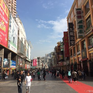 a pedestrian street near the Jade and Pearl Market building