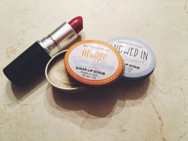 One MAC matte lipstick and two perfectly posh lip scrubs