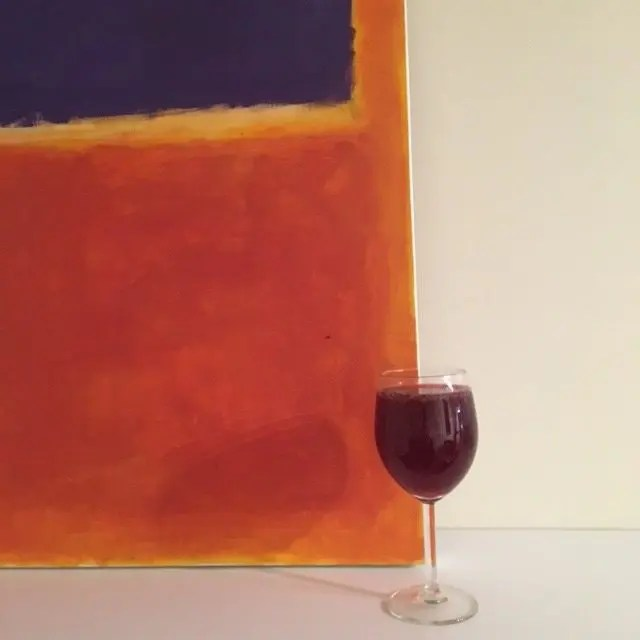 glass of beetroot juice in a wine glass