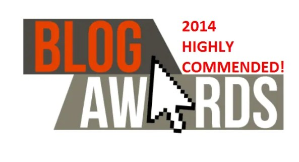 #UK Blog Awards 2014 Highly Commended