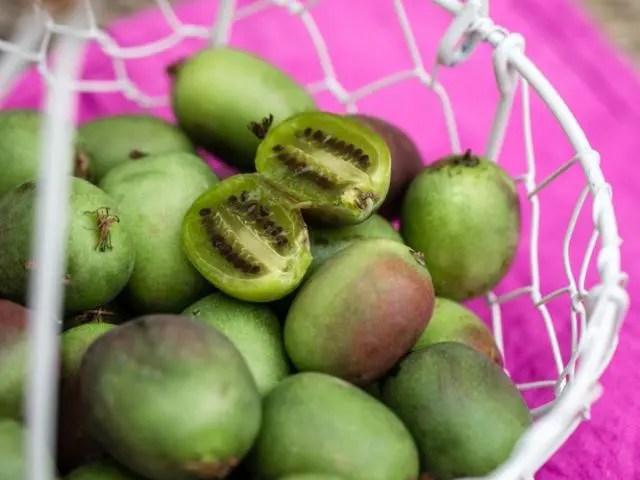 inside a kiwi berry