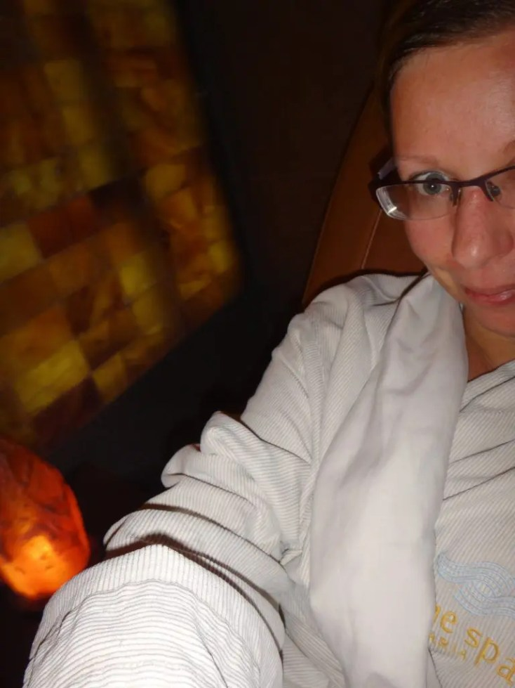 Salt therapy at Aria spa
