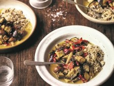 Deliciously Ella Thai Yellow Curry served in a white bowl