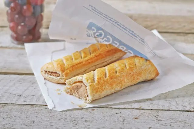 Two Greggs Sausage rolls