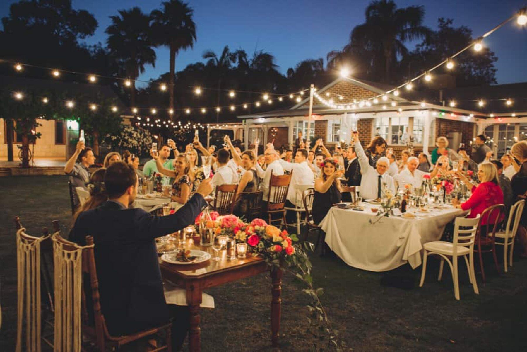 Jess & Ed's Boho Backyard Wedding