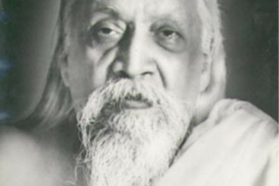 """Sri Aurobindo: """"The earliest preoccupation of man in his awakened thoughts…"""""""