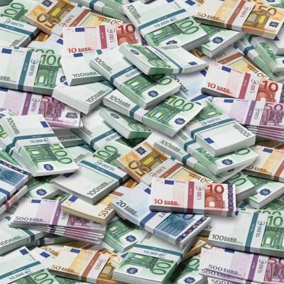 Piles of Euros