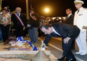 François Hollande lors de sa visite en Calédonie