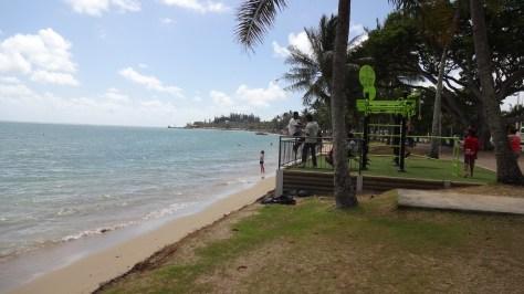 Peu de monde sur la plage de l'Anse Vata