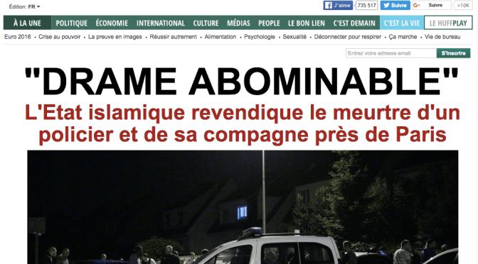 L'ETAT ISLAMISTE REVENDIQUE LE MEURTRE DU POLICIER ET DE SA COMPAGNE À MAGNANVILLE