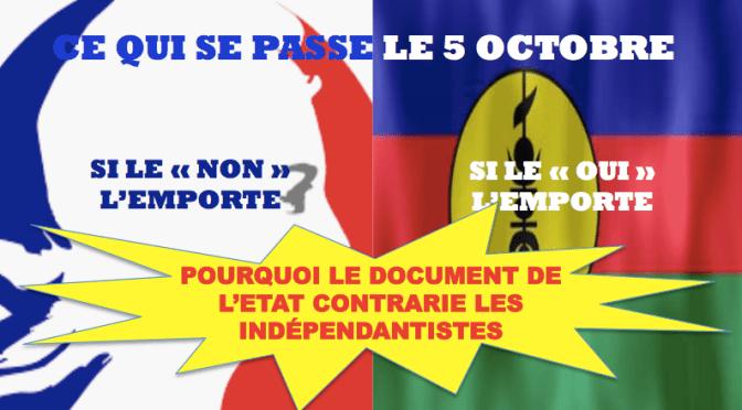 QUAND L'ETAT ÉCRIT LA VÉRITÉ, LES INDÉPENDANTISTES LE JUGENT «PARTIAL» !