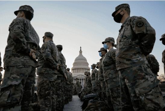 Aujourd'hui, il y aura trois fois plus de soldats déployés à Washington qu'en Irak et en Afghanistan réunis