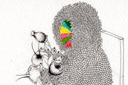 "(Detail) ""A little dress (I'm a rainbow too)"" Design & Illustration AWARD at Art Takes London 2011"