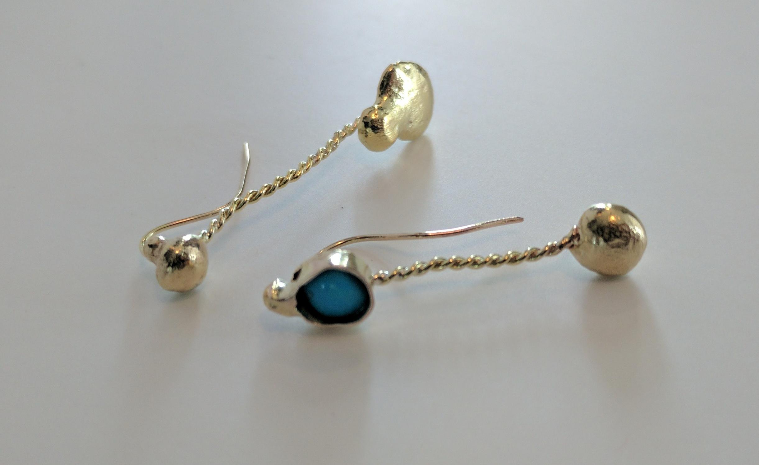 Handmade 14-karat gold earrings