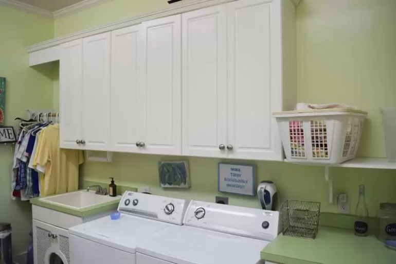 'Before' Image of Laundry Room for One Room Challenge