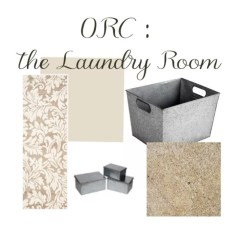 The One Room Challenge : Laundry Room. Mood board for updating laundry room. Home Decor ideas