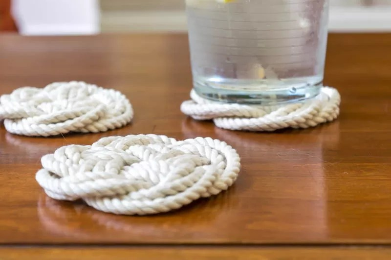 turk head knot coasters by nourish and nestle
